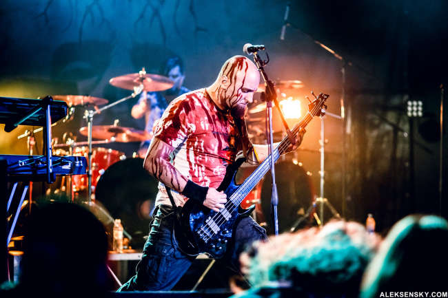 Tacit Fury performing at Opera Concert Club, Saint-Petersburg (15.11.2015), support for Carach Angren