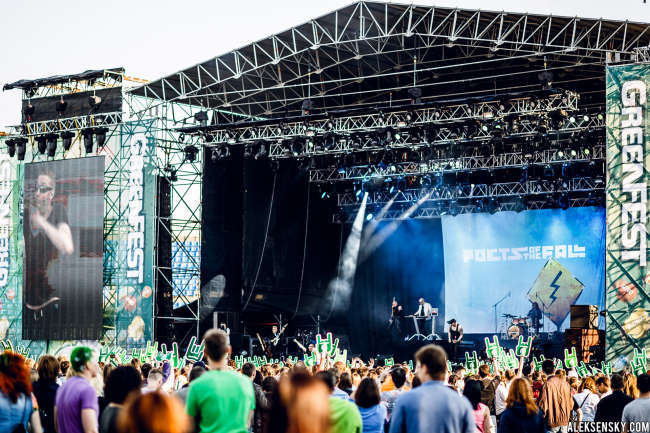 Poets of the Fall performing at Greenfest Open Air 2015, СК