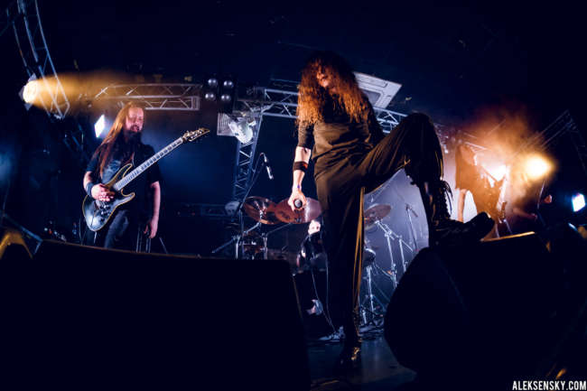 God Syndrome performing at Зал Ожидания, Saint-Petersburg (7.05.2016), supporting Decapitated