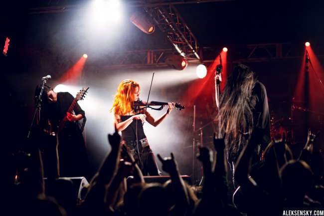 Blackthorn performing at Зал Ожидания, Saint-Petersburg (24.05.2016), supporting Fleshgod Apocalypse and Hate