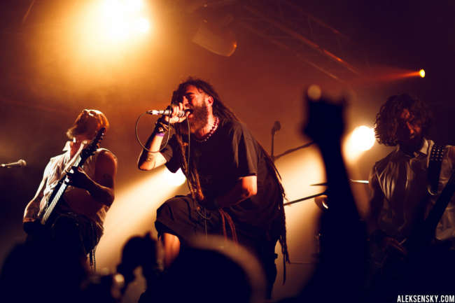 Node performing at Зал Ожидания, Saint-Petersburg (12.06.2016), supporting Kataklysm