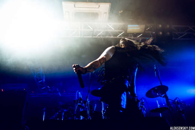 Electric Deathbeat performing at Зал Ожидания, Saint-Petersburg (30.09.2016), supporting Amaranthe