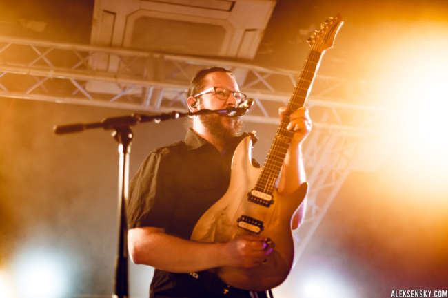 Ihsahn performing at Зал Ожидания, Saint-Petersburg (24.11.2016)