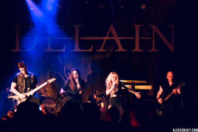 Antillia performing at Opera Concert Club, Saint-Petersburg (20.01.2017), supporting Delain