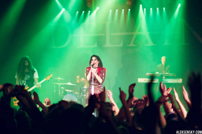 Delain performing at Opera Concert Club, Saint-Petersburg (20.01.2017)